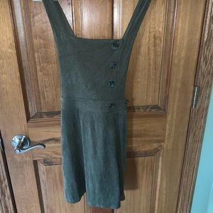 Olive green jumper dress